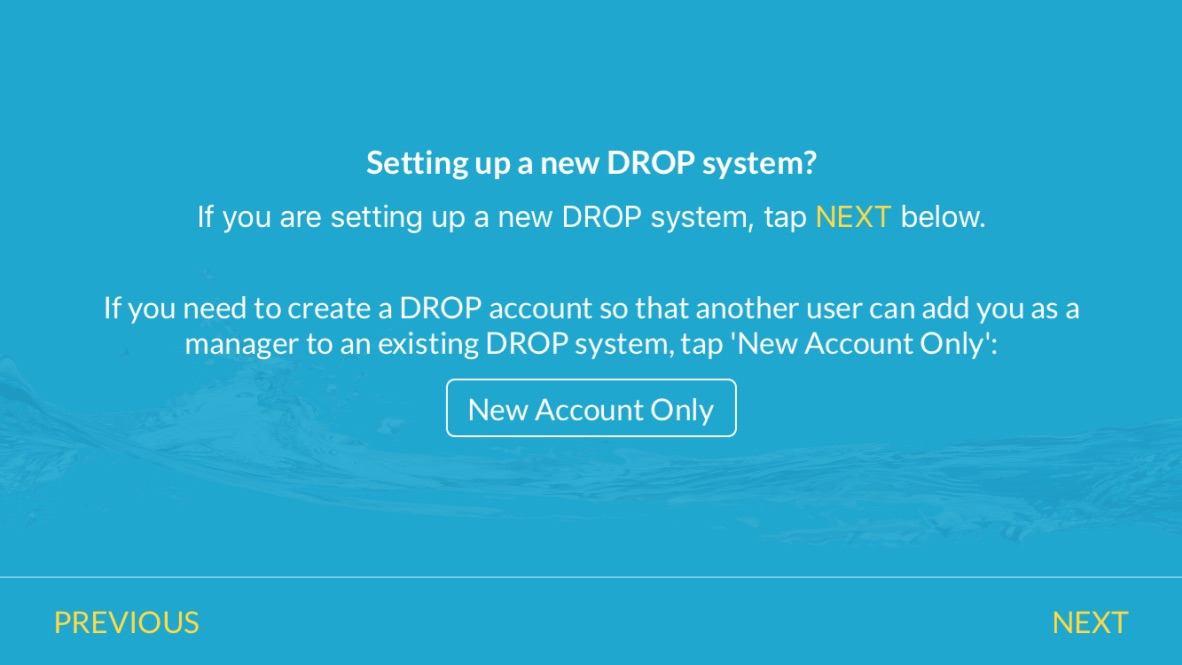 Connecting the app to the DROP system | Drop Connect
